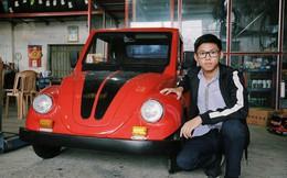 Học sinh lớp 11 Nam Định tự tay chế tạo ô tô điện sạc bằng năng lượng mặt trời: Xe lội nước thoải mái, ai cũng lái được!