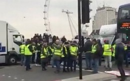 """Phong trào biểu tình """"Áo vàng"""" lan sang Anh, đòi gặp Thủ tướng May"""