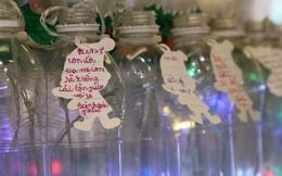 """Những điều ước giản đơn trên cây thông Noel làm bằng vỏ chai nhựa ở Sài Gòn: """"Con ước ba mẹ sẽ không cãi nhau nữa..."""""""