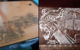 Rảnh tay vẽ giết thời gian, học sinh đã tạo nên siêu phẩm trên bàn tuyệt đỉnh thế này đây