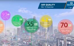Người Việt sắp được xem chương trình dự báo thời tiết hiện đại không kém New Zealand, bao gồm cả dữ liệu bụi mịn PM2.5 từng khu vực