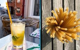 Hay thế mà giờ mới nghĩ ra: Dùng mỳ ống pasta để làm ống hút, giảm thiểu rác thải nhựa