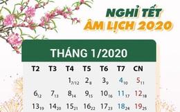 Lịch nghỉ Tết Nguyên đán Canh Tý và nghỉ Tết Dương lịch 2020 chính thức của người lao động, học sinh, giáo viên cả nước