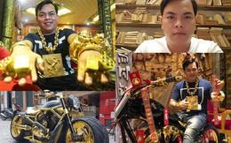 """Những cuộc """"chơi lớn"""" của Phúc XO – người đeo nhiều vàng nhất Việt Nam vừa bị công an bắt: Cõng 13 kg đi cổ vũ bóng đá, đội mũ vàng đính kim cương…"""