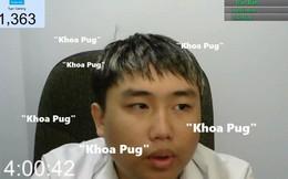 """Một streamer Việt Nam quyết tâm nói """"Khoa Pug"""" liên tục 10 tiếng để ủng hộ Khoa Pug"""