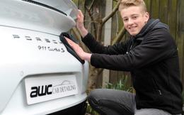 """Rửa xe thuê từ năm 13 tuổi, chàng trai 19 tuổi trở thành chủ salon chăm sóc siêu xe với giá """"đắt xắt ra miếng"""" 5.000 USD/lần"""