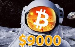 Bitcoin lại bùng nổ: Tăng giá tới 600 USD chỉ trong 1 giờ, lên sát 9.000 USD