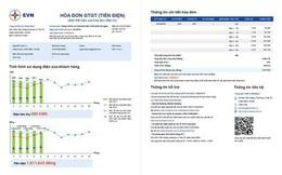 EVN đưa biểu đồ vào hóa đơn mới để khách hàng so sánh tiền điện
