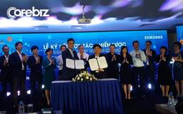 """Động thái mới trong chiến lược """"Mượn - Giành - Dẫn"""" của Shark Thủy: Bắt tay với ông lớn Samsung, sẽ đưa các sản phẩm giáo dục Egroup sang thị trường Hàn Quốc"""
