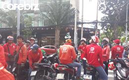"""Hàng trăm tài xế đình công phản đối chính sách của Go-Việt: """"Chúng tôi làm 17-18h/ngày cũng không đủ điểm để đạt mức thưởng đưa ra"""""""