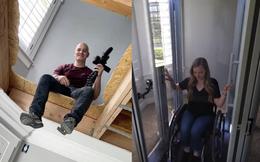 Chàng trai tự lắp thang máy trong nhà vì bạn gái phải di chuyển bằng xe lăn, tình yêu đích thực là đây!