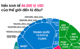 Nền kinh tế 86.000 tỷ USD của thế giới được đóng góp bởi những ai?