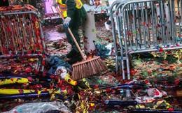 Sau đêm giao thừa tại New York, Quảng trường Thời đại bé nhỏ ngập ngụa trong 50 tấn rác thải