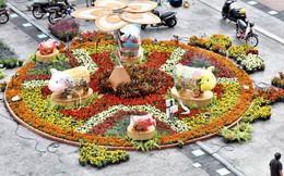 Cận cảnh đường hoa Nguyễn Huệ ở Sài Gòn trước giờ khai mạc đón Tết Kỷ Hợi 2019