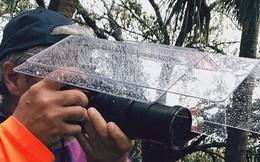 Ý tưởng triệu đô: Che ô cho máy ảnh để chụp ảnh lúc trời mưa