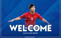 Công Phượng xong thủ tục gia nhập Incheon United, nhận áo số 23