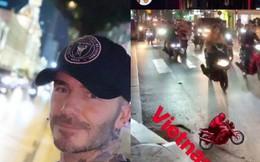 """David Beckham khoe ngay clip """"thả tim"""" và ảnh selfie dạo phố Sài Gòn lên Instagram sau chuỗi sự kiện tại Việt Nam"""