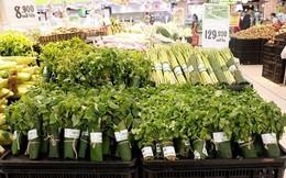 Hà Nội: Mừng rỡ siêu thị lớn gói rau bằng lá chuối thay túi nilon