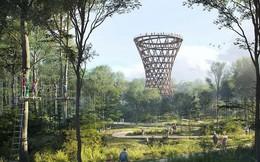 Choáng ngợp với con đường xoắn ốc trên cao xuyên qua công viên cây xanh ở Đan Mạch