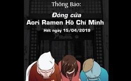 Sau khi công ty tuyên bố cắt đứt với Seungri, cơ sở Aori Ramen ở Sài Gòn sẽ chính thức đóng cửa sau 2 ngày nữa