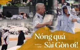 Người Sài Gòn nằm la liệt dưới bóng cây trên phố Nguyễn Huệ để trốn cái nóng hầm hập gần 40 độ C