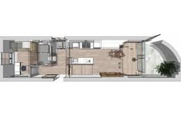 """Căn hộ 27m² cũ rích, vừa hẹp vừa dài """"biến hình"""" thành không gian hiện đại dành cho gia đình 5 người sau cải tạo"""