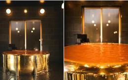Nhật Bản ra mắt bồn tắm vàng 18K trị giá 162 tỷ, giá cho thuê 1,1 triệu/giờ