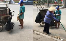 """Cảm động hình ảnh cậu bé phụ mẹ thu gom rác trong những ngày nghỉ lễ: """"Mẹ không được nghỉ, cháu làm cho mẹ đỡ mệt"""""""
