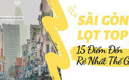 Sài Gòn lọt top 15 điểm đến rẻ nhất thế giới, vị trí số 1 còn khiến bạn bất ngờ hơn nữa!