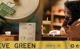 """Dùng cốc giấy nhưng đậy bằng nắp nhựa, quán trà Hà Nội vẫn chiếm cảm tình khách hàng vì lời nhắn: """"Xin lỗi vì chúng tôi chưa tìm ra giải pháp..."""""""