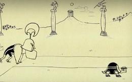 Đây là lời giải cho nghịch lý nổi tiếng của Zeno, về anh hùng Achilles chạy đua với con rùa
