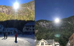 5 tháng trong năm tối như hũ nút, thị trấn Na Uy chi 13 tỷ lắp gương trên núi để phản chiếu ánh mặt trời