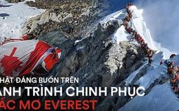 """Những bức hình ám ảnh nhất trên đường chinh phục đỉnh Everest: Từ các """"cột mốc"""" thi thể đến sự thật kinh hoàng hiện ra khi tuyết tan"""
