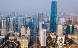 """Nhìn từ trên cao, cả một """"rừng chung cư"""" mọc lên ở khu trung tâm phía Tây Hà Nội"""