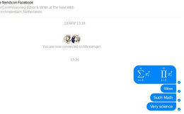 Người yêu Toán nên biết: Facebook Messenger đã cho phép soạn thảo các công thức toán học cơ bản