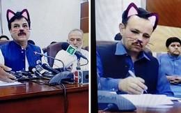 Pakistan: Live-stream họp báo chính phủ nhưng quên tắt filter mèo hồng cute
