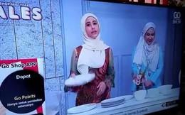 Quảng cáo đĩa không vỡ, nữ MC của kênh bán hàng nhận ngay kết đắng khi đĩa vỡ tan tành ngay trên sóng trực tiếp