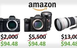 Amazon gặp lỗi, bán máy ảnh và ống kính trị giá hơn 13.000 USD ở mức 100 USD