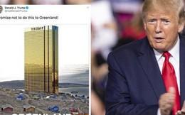 """Đăng tấm hình tòa tháp vàng """"siêu to khổng lồ"""" ở Greenland, ông Trump lại gây bất ngờ với lời hứa mới"""