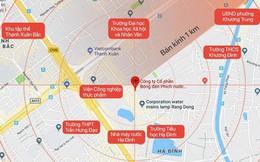 """""""Khu vực 1km"""" sau vụ cháy Công ty Rạng Đông: Bao gồm nhiều trường học và khu đông dân cư"""