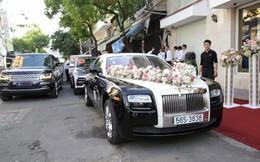 """ĐỘC QUYỀN: Toàn cảnh lễ đưa dâu bằng dàn siêu xe hơn 100 tỷ của con gái đại gia Minh Nhựa, quà cưới toàn vàng, kim cương đeo """"đỏ tay"""""""