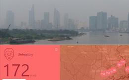 """Lại """"báo động đỏ"""", bầu trời Sài Gòn mù mịt ô nhiễm nặng"""