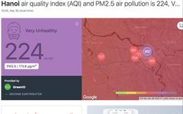 SOS chất lượng không khí nguy hại, Sở Tài nguyên nói chỉ để tham khảo?