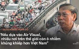 """GS.TS Hoàng Xuân Cơ: """"Không thể coi Air Visual là nguồn thông tin chính thống và đáng tin cậy"""""""