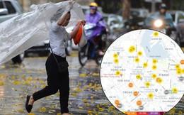 Chùm ảnh: Hà Nội đón cơn mưa rào sau nhiều ngày hanh khô, chỉ số chất lượng không khí được cải thiện