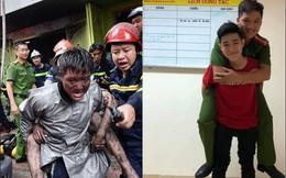 Hình ảnh xúc động: Được chiến sĩ PCCC cõng khỏi đám cháy, chàng trai đã đến gặp gỡ và gửi lời cảm ơn tới các ân nhân