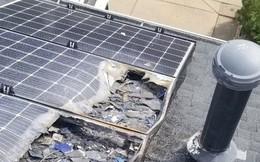 Pin mặt trời Tesla không an toàn 100%, có nóc nhà đã bốc cháy