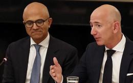 """Microsoft """"nẫng tay trên"""" hợp đồng 10 tỷ USD của Amazon"""
