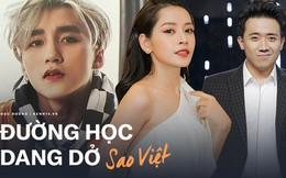 Đường học dang dở của sao Việt: Trấn Thành, Trường Giang bị đuổi; Sơn Tùng, Chi Pu vì mải chạy show mà phải dừng việc học