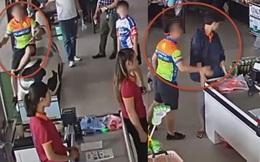 Phẫn nộ clip bố xui con mua hàng không trả tiền, còn hung hăng ném xúc xích vào mặt và tát nhân viên ở Thái Nguyên